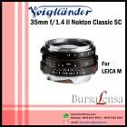 Voigtlander 35mm f1.4 VM II Nokton-Classic SC for Leica