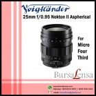 Voigtlander 25mm f/0.95 Nokton II Aspherical for Micro Four Thirds - MFT