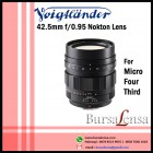 Voigtlander 42.5mm f/0.95 Nokton for Micro Four Thirds - MFT