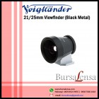 Voigtlander 21/25mm Viewfinder (Black Metal)