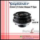 Voigtlander 21mm F/4 Color Skopar P-Type VM For Leica M