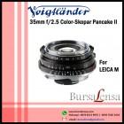 Voigtlander 35mm F/2.5 Color Skopar Pancake II VM for Leica M